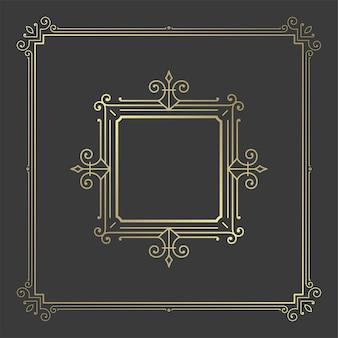 Vintage bloeit ornament wervelingen lijnen frame victoriaanse sierlijke rand