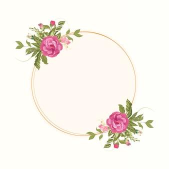 Vintage bloemen aquarel frame met mooie bloemen sjabloon