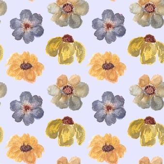 Vintage bloemen aquarel naadloze patroon