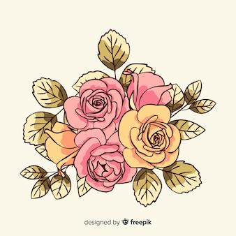 Vintage bloemen boeket achtergrond