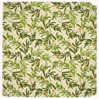 Vintage bloemen en bladeren naadloos patroon