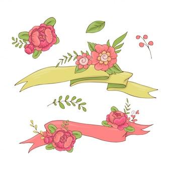 Vintage bloemen lint.