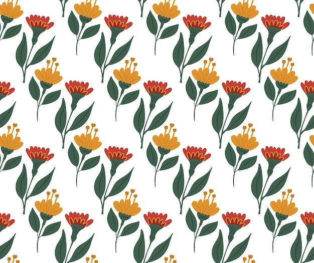 Vintage bloemen naadloos patroon, trendy print. bloemen herhalende textuur, achtergrond. vector illustratie