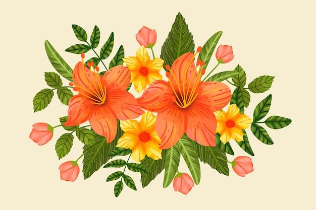 Vintage bloemenboeket