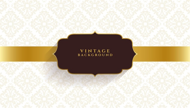 Vintage bloemenuitnodiging gouden banner