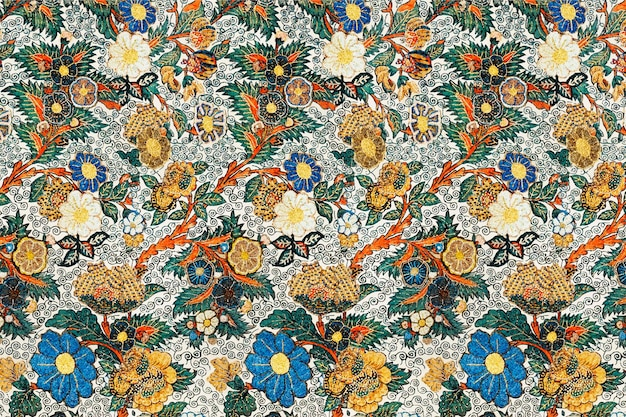 Vintage bloemmotief achtergrond vector