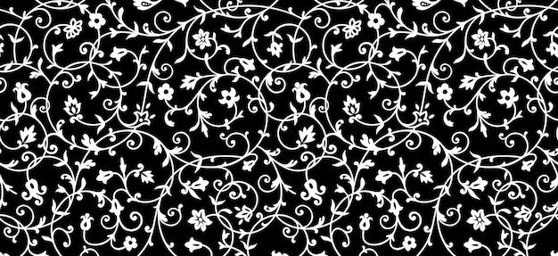 Vintage bloemmotief. rijk ornament, oud stijlpatroon voor behang, textiel, scrapbooking enz.