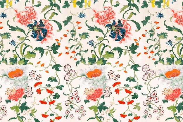 Vintage bloemmotief vector achtergrond