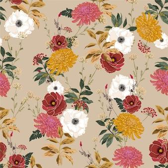 Vintage bloemmotief