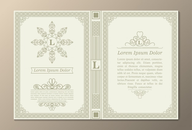 Vintage boeklay-outs van creatief ontwerp