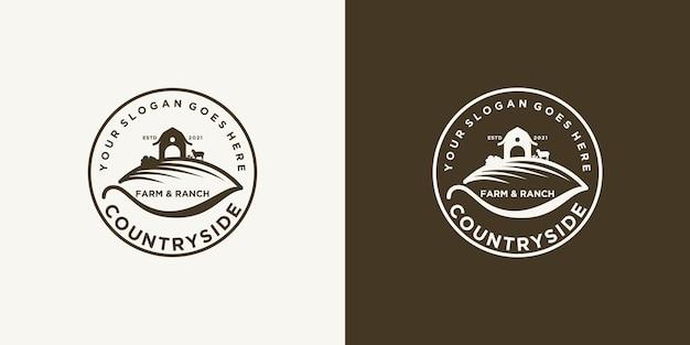 Vintage boerderij en ranch logo inspiratie