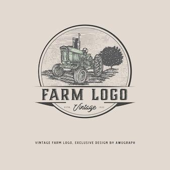 Vintage boerderij logo