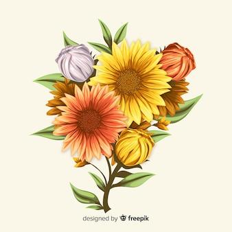 Vintage botanisch bloemboeket