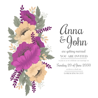 Vintage bruiloft hete roze bloem frame