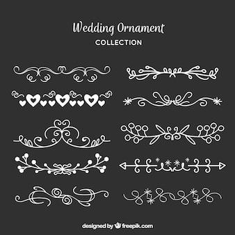Vintage bruiloft ornament collectie