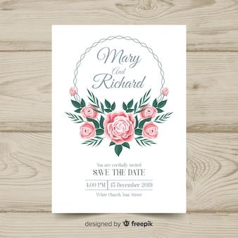 Vintage bruiloft uitnodiging sjabloon