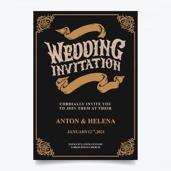 Vintage bruiloft uitnodigingen