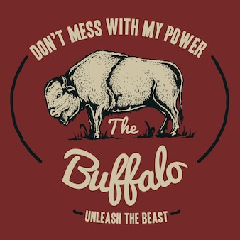 Vintage buffalo-badge