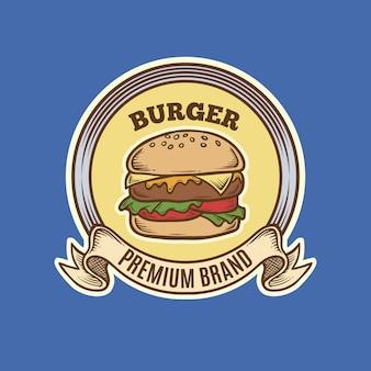 Vintage burger-logo