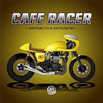 Vintage cafe racer poster premium vector