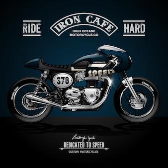 Vintage cafe racer poster