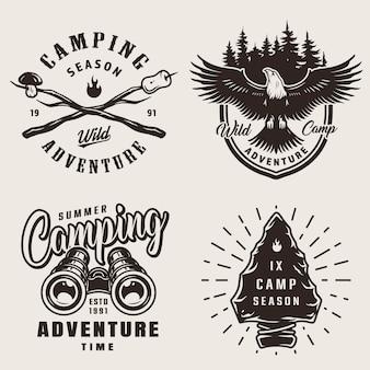 Vintage camping emblemen