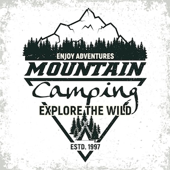 Vintage camping of toerisme logo ontwerp