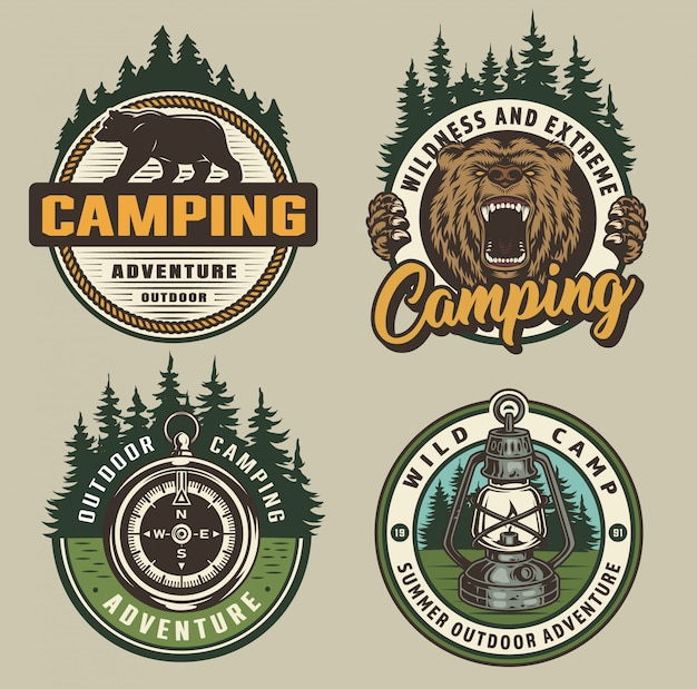 Vintage campingbadges