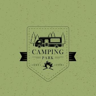 Vintage campingparkbadge
