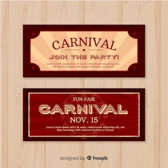 Vintage carnaval feest banner