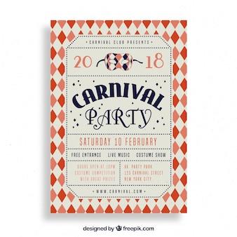 Vintage carnaval partij flyer / poster