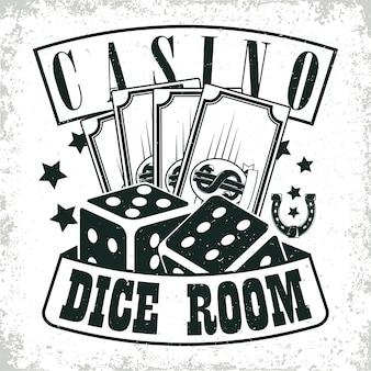 Vintage casino logo ontwerp