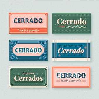 Vintage cerrado uithangbord set
