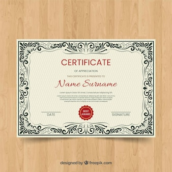 Vintage certificaatsjabloon concept