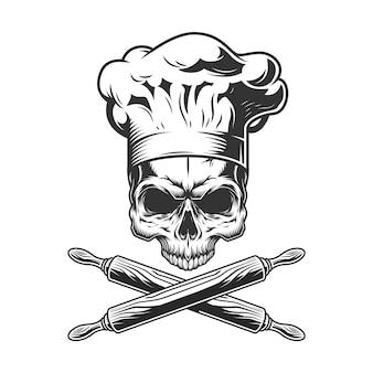 Vintage chef schedel zonder kaak