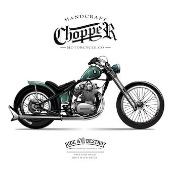 Vintage chopper motorfiets poster