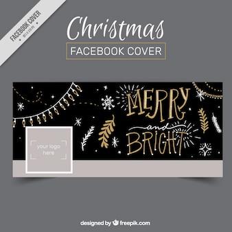 Vintage christmas facebook omslag