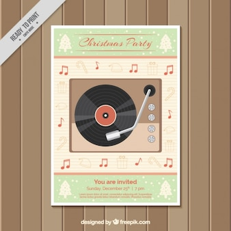 Vintage christmas party brochure