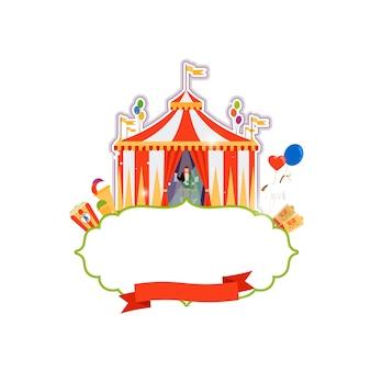 Vintage circus geïsoleerd element