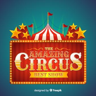 Vintage circus licht bord