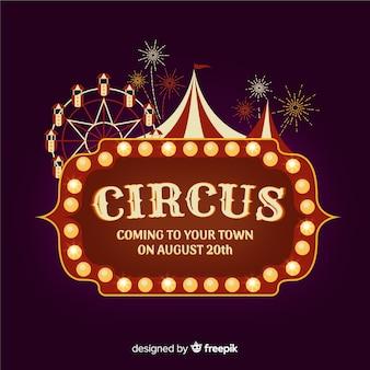 Vintage circus licht teken achtergrond