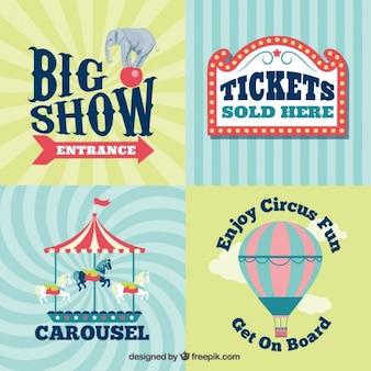 Vintage circus tekenen