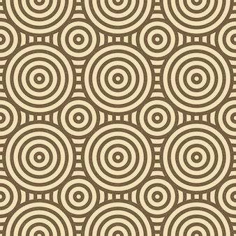 Vintage cirkel lijnpatroon