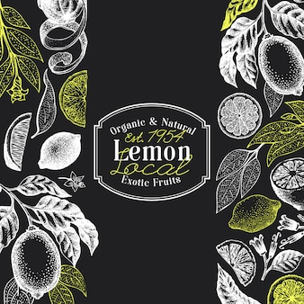 Vintage citrus achtergrond