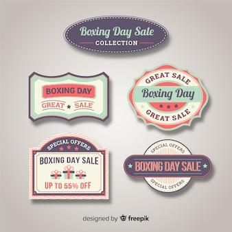 Vintage collectie badges voor bokswedstrijden