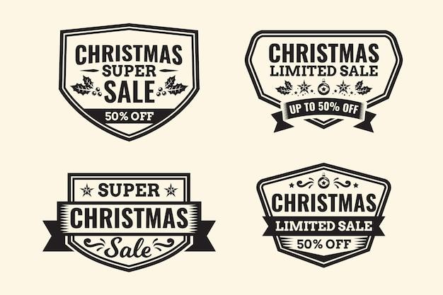 Vintage collectie kerstmarkeringen