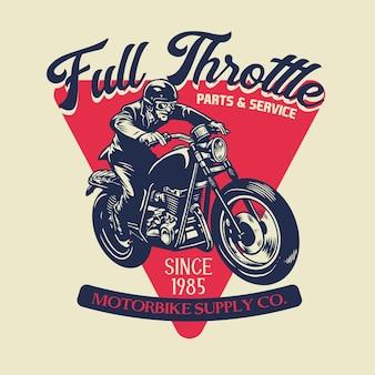 Vintage custome motorfiets badge ontwerp