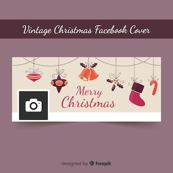 Vintage decoratie facebook omslag