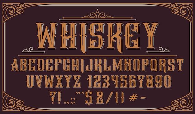 Vintage decoratief lettertype. perfect voor alcoholetiketten, logo's, winkels, krantenkoppen, posters en vele andere toepassingen.