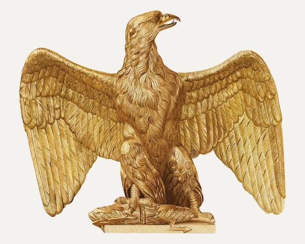 Vintage decoratieve adelaar illustratie vector, geremixt van het kunstwerk van robert pohle